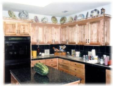 Wormy Maple Kitchen Cabinets